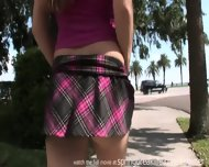 Naked In Public - Short Skirt - scene 1