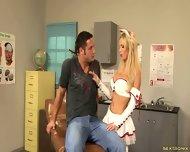 Cum On Busty Nurse's Tits - scene 2