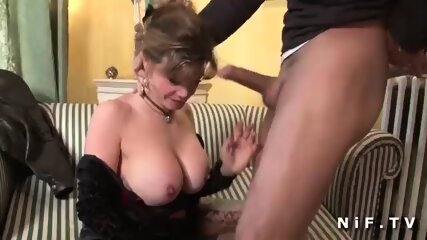 Large boobed amateur Spouses Older bourgeoise in lingerie Clad in doggy style