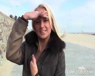 Sexy Blonde Beach Babe - scene 8