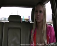 Blonde Fingers Self In Car - scene 1