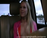 Blonde Fingers Self In Car - scene 12
