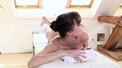 Massage Turns Into Sex With Shy Brunette - scene 2
