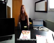 Sex In The Office With Amateur Redhead Linda - scene 2