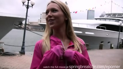 Shy Blonde Flashing Downtown - scene 2