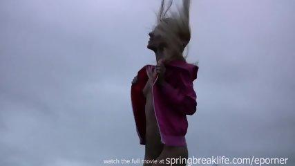 Shy Blonde Flashing Downtown - scene 7