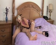 One Teen Slut For Two Cocks - scene 1