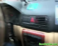 Pulled Amateur Taxi Babe Public Sucking - scene 10