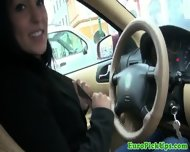 Pulled Amateur Taxi Babe Public Sucking - scene 12