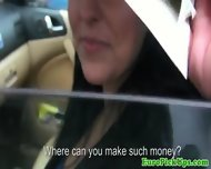 Pulled Amateur Taxi Babe Public Sucking - scene 3