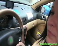 Pulled Amateur Taxi Babe Public Sucking - scene 5