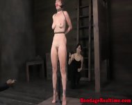 Gagged Sub Spanked By Doms - scene 9