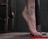 Gagged Sub Spanked By Doms - scene 4