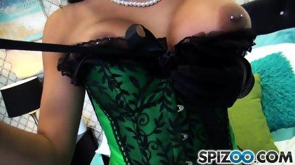 Elegant Brunette With Semen On Face - scene 1