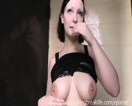 Goth Girl Fingers Herself In Public - scene 1