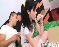 Pale Babe Spreads Legs For Fuck - scene 4