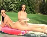 Steamy Young Brunettes At The Pool - scene 8