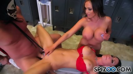 Wrestler And His Busty Fans - scene 8