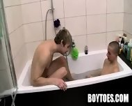 Two Hunks Sucking Each Others Toes In A Bathtub - scene 3