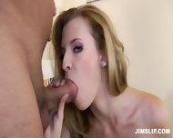 Skinny Schoolgirl Takes Older Guy's Cock - scene 10