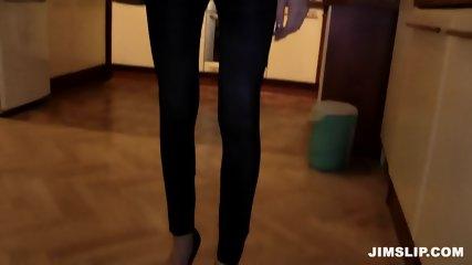 Skinny Schoolgirl Takes Older Guy's Cock - scene 1