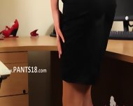 Sexy Secretary Finger And Stripping - scene 1