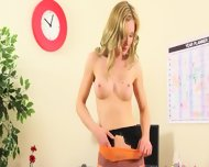 Sexy Secretary Finger And Stripping - scene 12