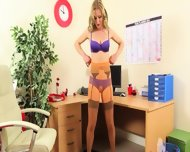 Sexy Secretary Finger And Stripping - scene 7