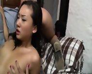 Beautiful Bewitching Brunette Babe Sucking - scene 7