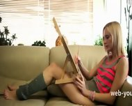 Blond Masturbation In The Livingroom - scene 2