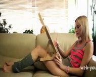 Blond Masturbation In The Livingroom - scene 2