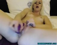 Hot Blonde Teen Dildos Her Tight Wet Pussy - scene 1