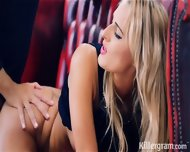 Cute Blonde Banged On Red Sofa - scene 9