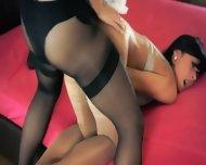 Two Graceful Amazing Lesbians Using Strap - scene 10