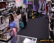 Desperate Chick Selling Her Old Teapot At The Pawnshop - scene 1
