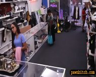 Desperate Chick Selling Her Old Teapot At The Pawnshop - scene 2