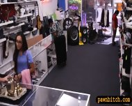 Desperate Chick Selling Her Old Teapot At The Pawnshop - scene 3