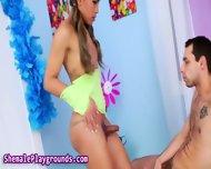 Ebony Teen Tgirl Rammed - scene 2