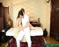 Babe Blows During Massage - scene 7