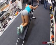 Muscular Chick Was Convinced To Get Fucked In The Pawnshop - scene 1