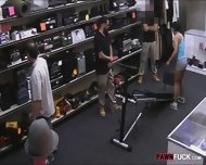 Muscular Chick Was Convinced To Get Fucked In The Pawnshop - scene 3