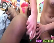 Black Teen Takes Dildo - scene 12