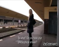 Big Tits Czech Girl Screwed Up In Trains Toilet For Money - scene 4