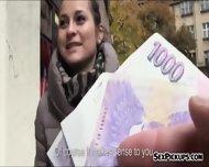 Real Amateur Czech Slut Emily Fucked For Alot Of Cash - scene 1