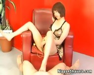 Shaved Japanese Pussy In Sexy Lingerie - scene 2