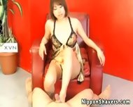 Shaved Japanese Pussy In Sexy Lingerie - scene 5