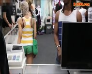Guy Pawns His Girlfriends Pussy At The Pawnshop For Money - scene 2