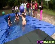 Outdoor Teen Pool Party - scene 11