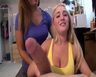 Two Amazing College Girls Sucking Dick - scene 7