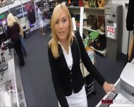 Hot Blonde Milf Gives Head And Pounded In Storage Room - scene 1